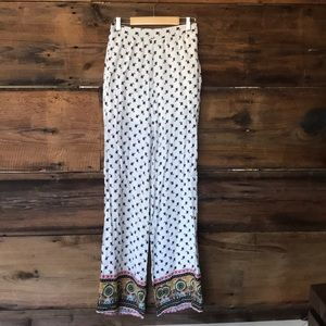 Pants size small off white flowered